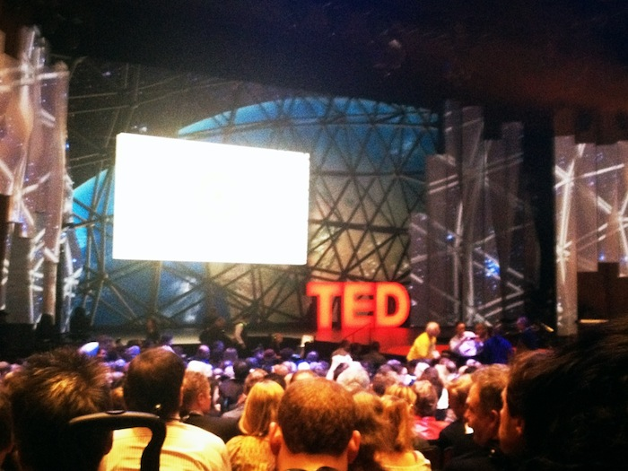 TED 2012 Day Two - waiting for the first session to start